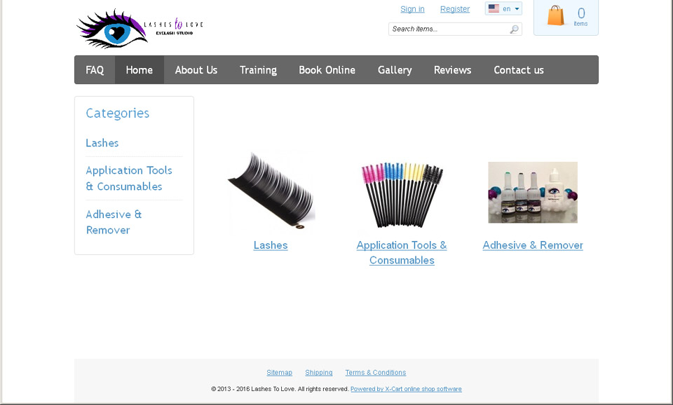 Lashes to Love home page