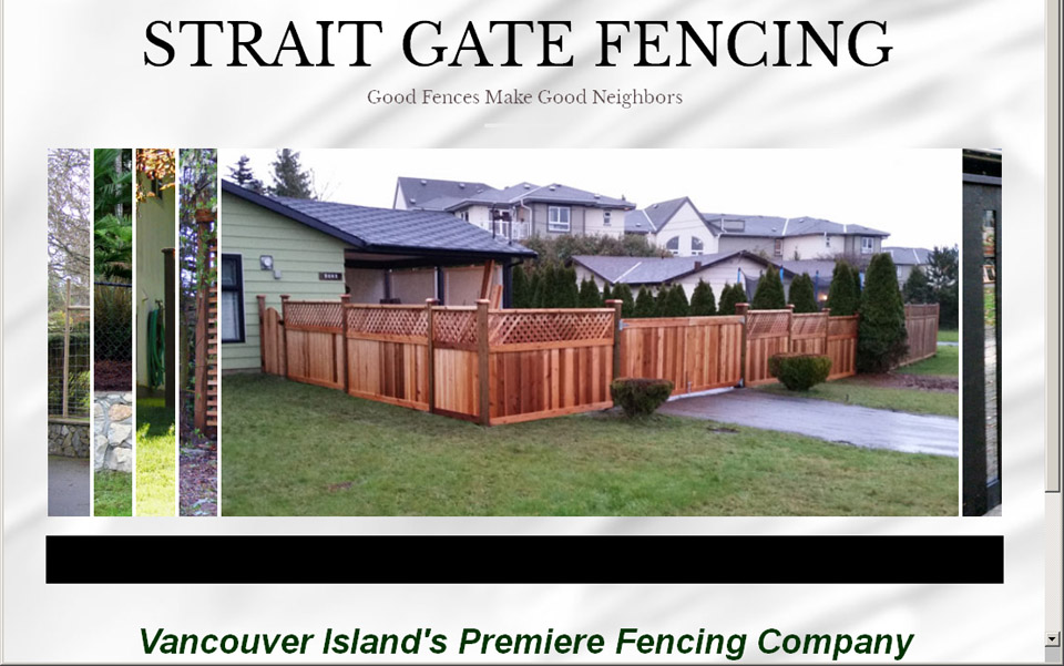Strait Gate Fencing home page